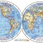 Материки и океаны на глобусе