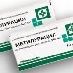 Метилурациловые свечи в гинекологии – варианты применения