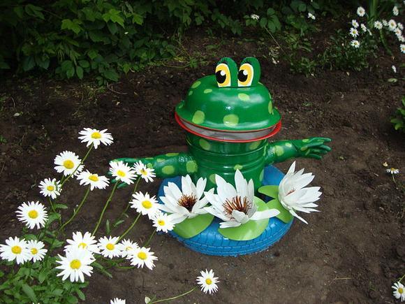 Лягушка своими руками для сада